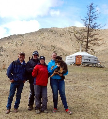 Making new friends in Mongolia