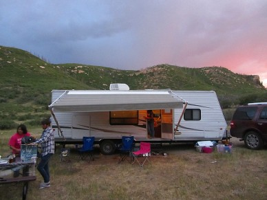 Scrambling in the smoke as wildfire rage near Mesa Verde Nat'l Park. Hey, somebody adjust the awning!