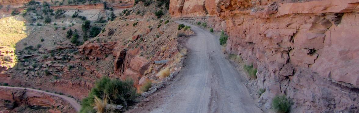 The beautiful but treacherous Shafer Trail at Canyonlands National Park