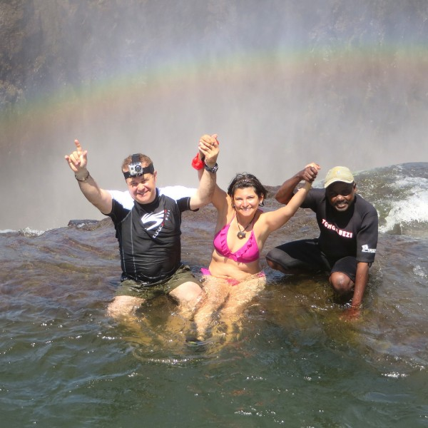 The Devil's Swimming Pool At Victoria Falls