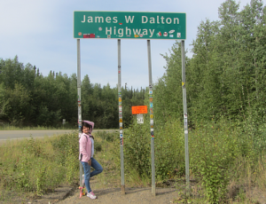 Entering the James W Dalton Highway...AKA The Ice Road.