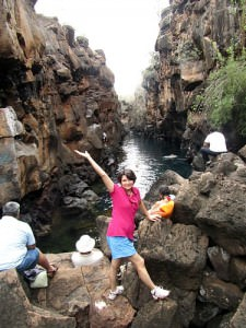 A 'secret' grotto swimming hole called Las Gritas.