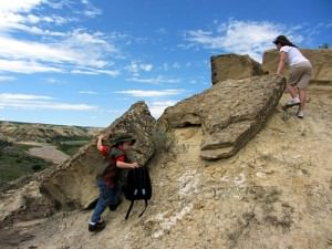 Hiking At Theodore Roosevelt National Park in North Dakota