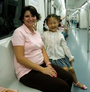 Making friends on the Beijing Subway