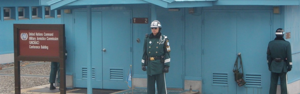 The South Korean side of the DMZ