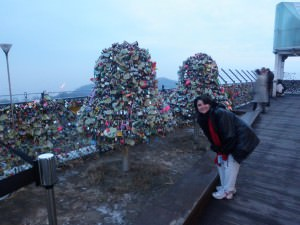 Love Locks At Seoul Tower (aka Namsan Tower)