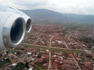 Short Final Into Cuzco Peru.