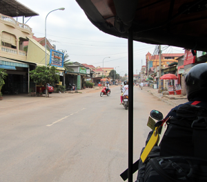 Ridding in a Tuk Tuk.